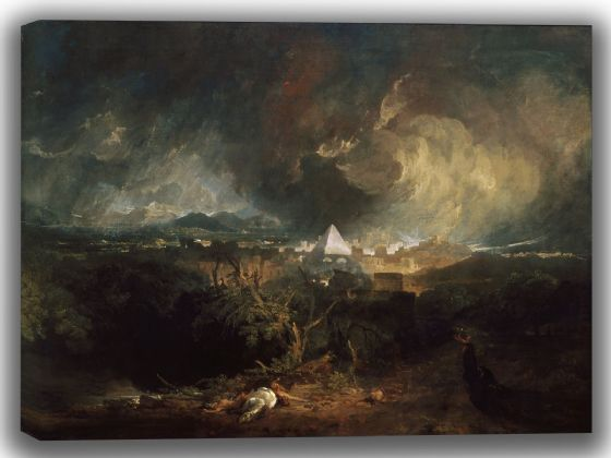 Turner, Joseph Mallord William: The Fifth Plague of Egypt. Fine Art Canvas. Sizes: A4/A3/A2/A1 (004054)